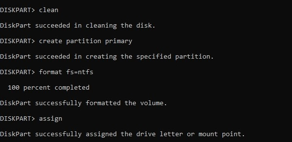 Format hard drive using the command prompt 1