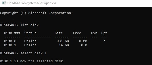 Format hard drive using the command prompt