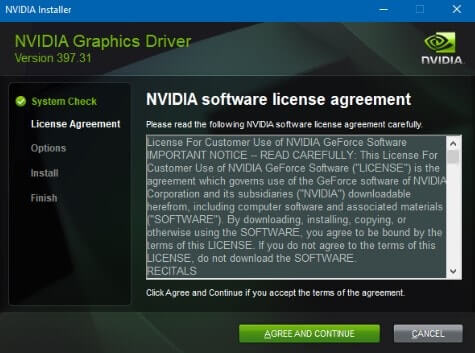 NVIDIA Graphic Driver Installation - NVIDIA installer failed