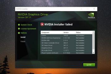 NVIDIA Installer failed