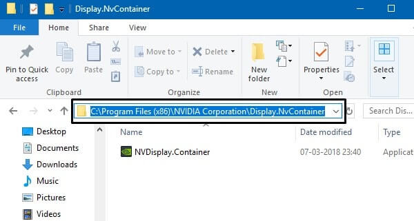 Display NvContainer