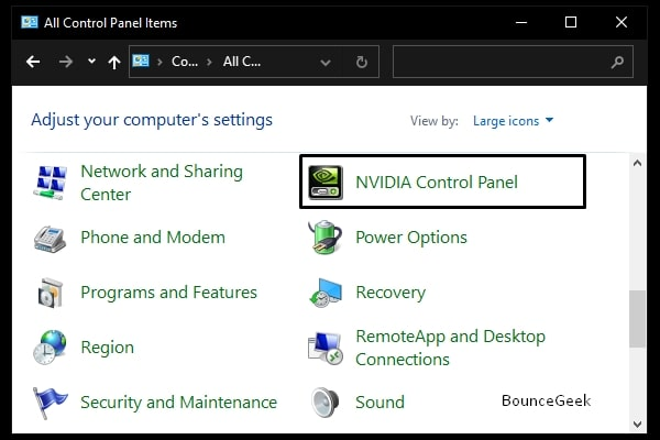 NVIDIA Control Panel is Missing - Control Panel