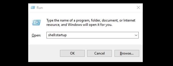 Open Windows 10 Startup Folder Startup Shell Command