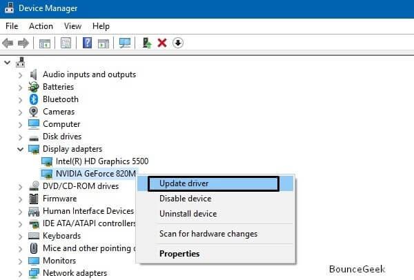 Update Graphics Driver - NVIDIA