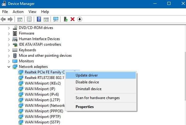 Update Network Driver