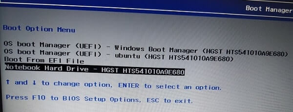 Boot Manager - Hard Drive