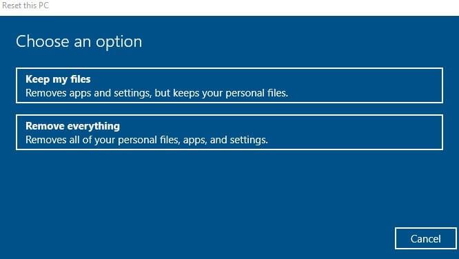 RESET Windows - Remove Everything