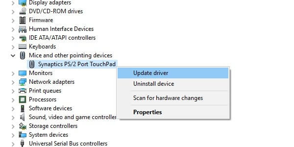 Update TouchPad Driver