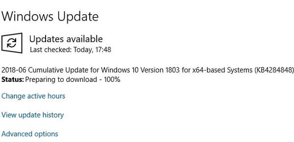 Windows Updates Available