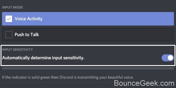 Automatically determine input sensitivity in Discord