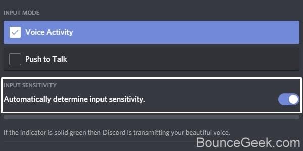 Automatically determine input sensitivity in Discord