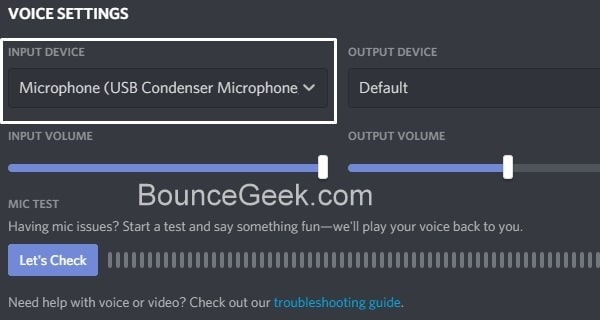 Discord Mic not Working - Select Input Device
