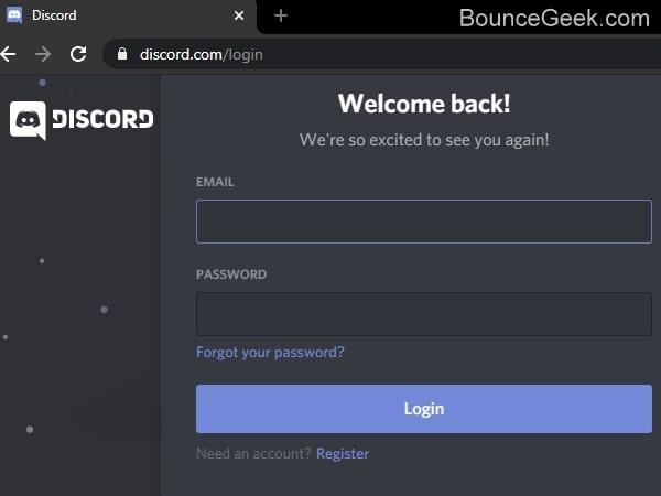 Login into Web App