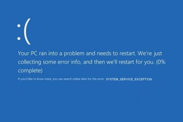 Fix System Service Exception Windows 10