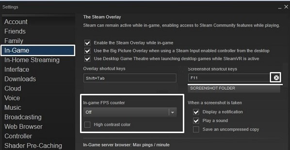 In-Game FPS Counter - Steam