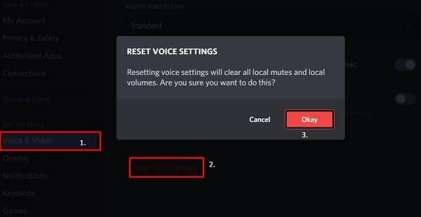 Reset Voice Settings - Discord