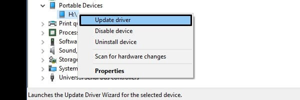Update SD Card Driver