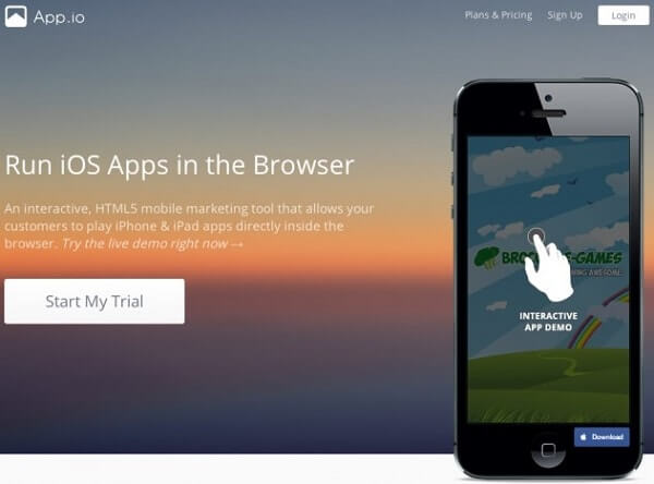 App(dot)io - Cloud iOS Emulator