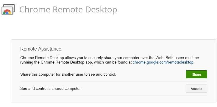 Chrome Remote Desktop - Chrome Apps