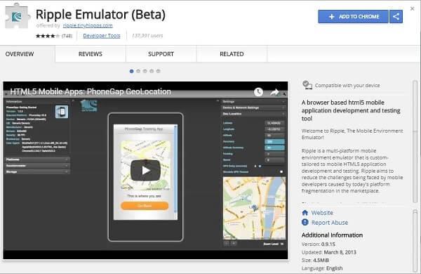 Ripple Emulator Beta