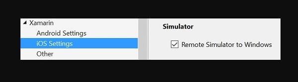 Xamarin - iOS Simulator.