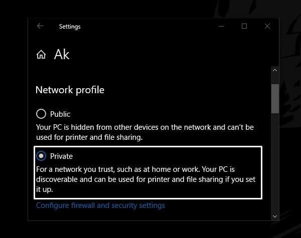 Make Network Private