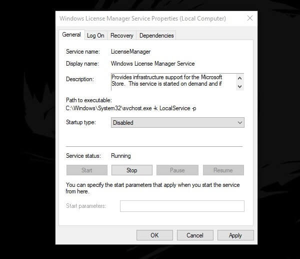 Disable License Manager