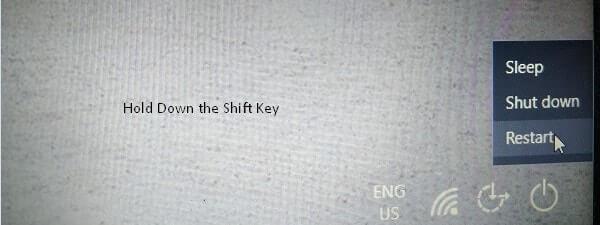 Hold Down Shift Key