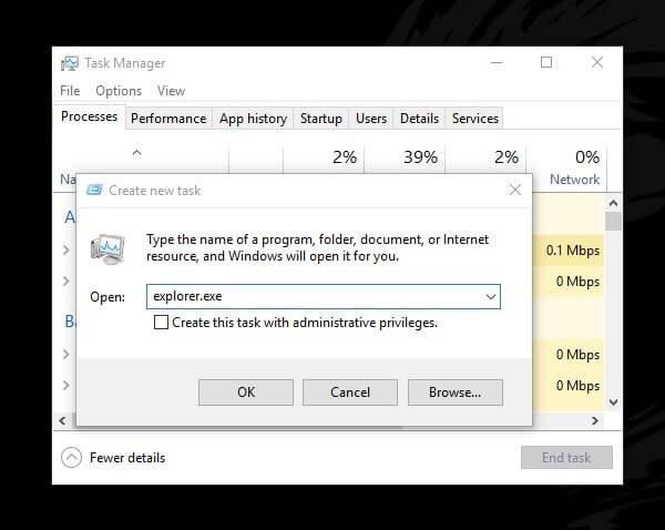 Run Windows Explorer