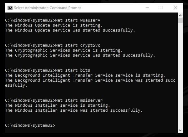 Start Update Components