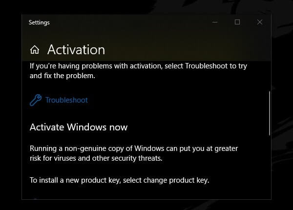 Windows Activation Troubleshooter
