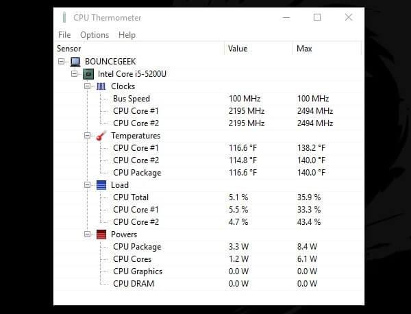 Best CPU Temp Monitor - CPU Monitoring Software  - BounceGeek