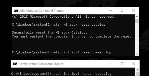 Repair TCP IP Stack