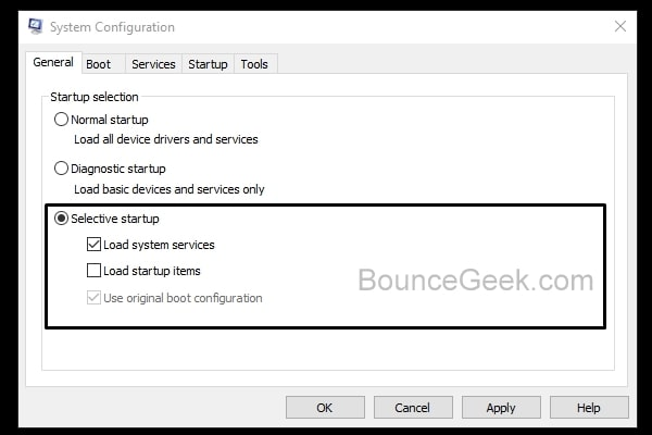 Selective Startup - Disable Load Startup Items