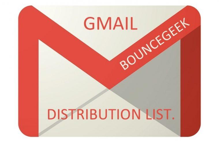 Gmail distribution list