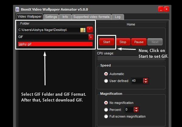 Set GIF Wallpaper Windows 10