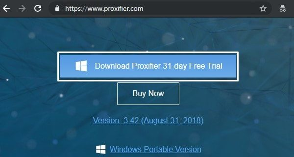 Download Proxifier 31-day Free Trial