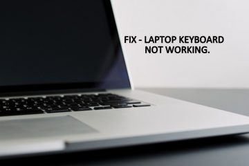 Laptop Keyboard Not Working