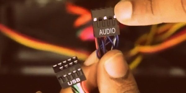 Connect USB and Audio Cable