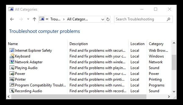 Run Audio Troubleshooter