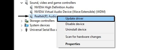 Update Realtek Audio Driver