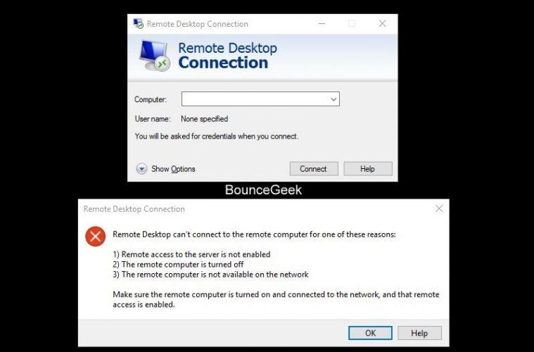 Windows 10 Remote Desktop Not Working