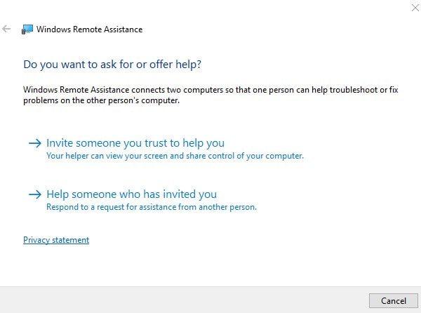 Windows Remote Assistance