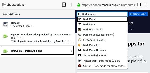 Browse all Firefox Add-ons