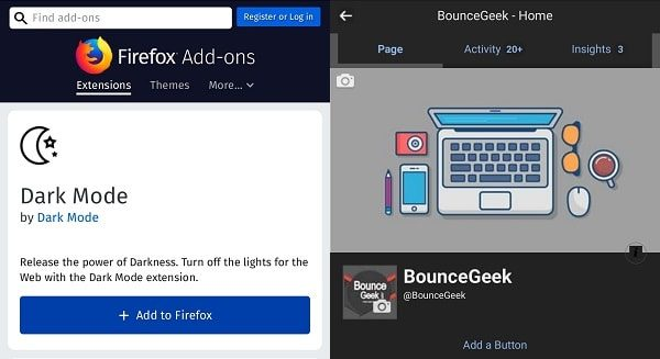 Dark Mode Firefox Add-on