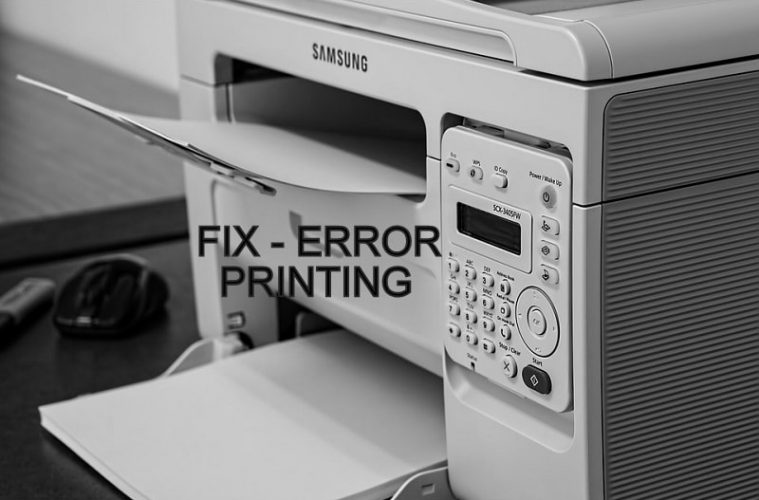 Error Printing Windows 10