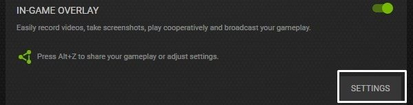 In-Game Overlay Settings