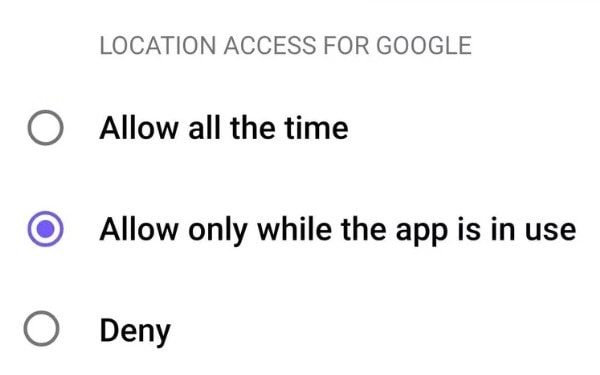 Location Access - Android Q