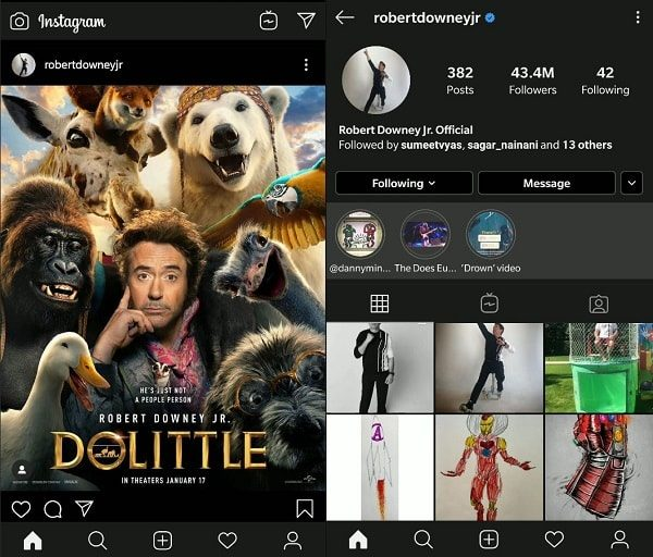 Official Instagram App Night Mode