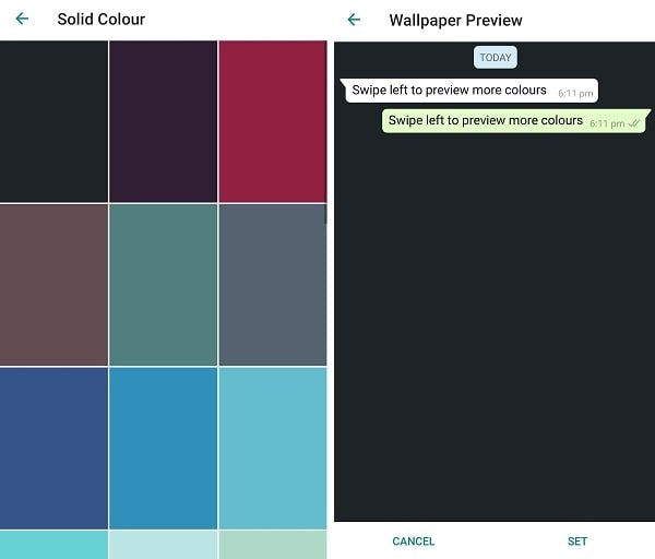 Select Dark Color Background
